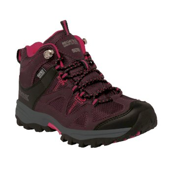 Regatta Kids Gatlin Mid Walking Boots - Fig Vivacious