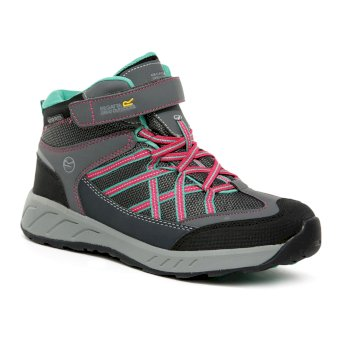 Regatta Kids' Samaris V Mid Waterproof Walking Boots - Granite Duchess