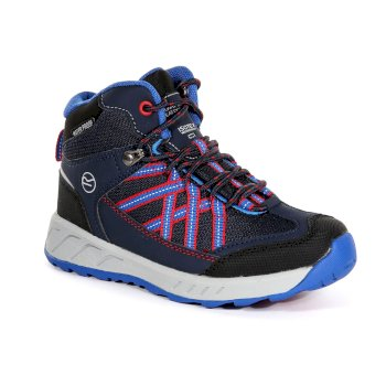 Regatta Kids' Samaris Mid Walking Boots - Navy Pepper
