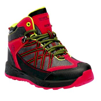 Regatta Kids' Samaris Mid Walking Boots - Pepper Lime Zest