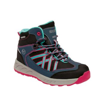 Regatta Kids' Samaris Mid Walking Boots - Blue Duchess