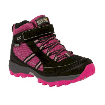 Regatta Kids' Trailspace II Mid Walking Boots - Jem Black