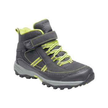 Regatta Kids' Trailspace II Mid Walking Boots - Briar Lime Punch