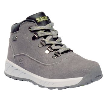 Regatta Kids' Grimshaw Mid Walking Boots - Rock Grey Lime Fizz