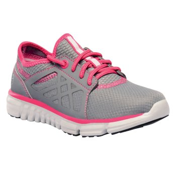Regatta Kids Marine Sport Walking Shoes Rock Grey Hot Pink