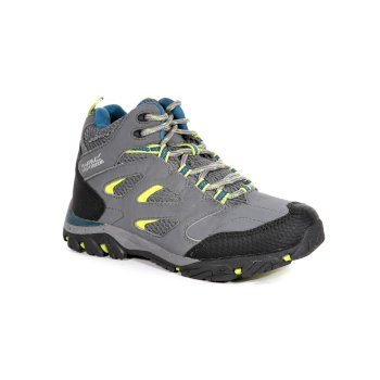 Regatta Kids' Holcombe IEP Walking Boots Granite Lime Punch