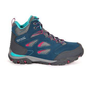 Regatta Kids' Holcombe IEP Mid Waterproof Walking Boots - Moroccan Blue Duchess
