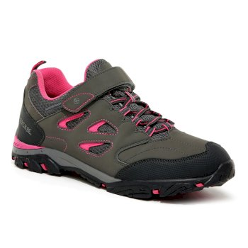 Regatta Kids' Holcombe IEP Low V Waterproof Walking Shoes - Steel Tulip