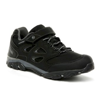 Regatta Kids' Holcombe IEP Low V Waterproof Walking Shoes - Black Granite