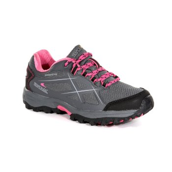 Regatta Kids' Kota Low Walking Shoes - Granite Tulip