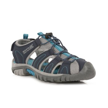 Regatta Kids' Westshore Lightweight Walking Sandals - Navy Ocean Depths