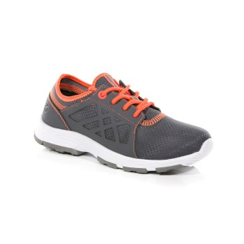 Regatta Kids' Marine Sport II Trainers Granite Fiery Coral