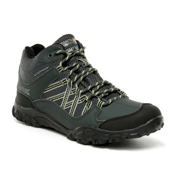 Regatta Kids' Edgepoint Waterproof Walking Boots - Briar Electric Lime