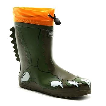 Mudplay Dinosaur Gummistiefel für Kinder Grün