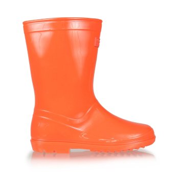 Regatta Kids' Wenlock Wellingtons - Fiery Coral