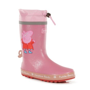 Regatta Peppa Pig Puddle Wellingtons - Pink