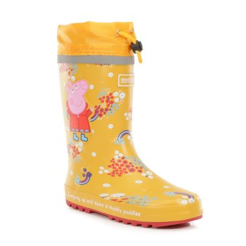 Regatta Peppa Pig Splash Wellingtons - Glowlight Floral