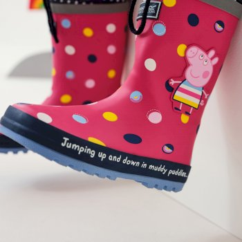 Regatta Peppa Pig Splash Wellingtons - Bright Blush Polka