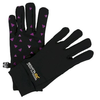 Kids' Grippy Gloves - Black Camellia