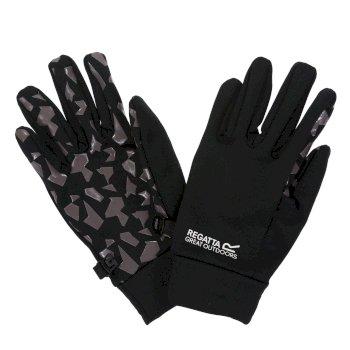 Grippy Handschuhe für Kinder Schwarz/Magnetgrau