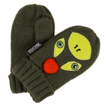 Regatta Kids Animally Mitts II - Cypress Green Lime Punch