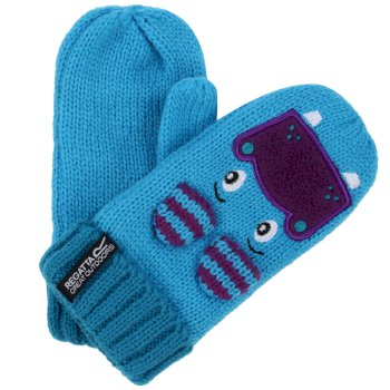 Regatta Kids Animally Mitts II - Aqua Winberry Hippo