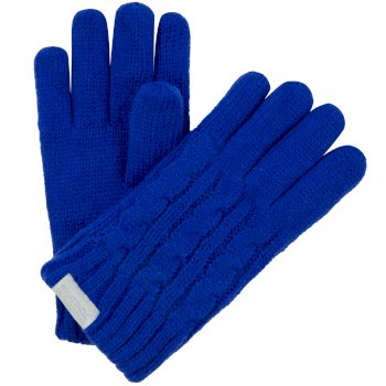 Regatta Kids Multimix Fleece Lined Cable Knit Gloves - Surf Spray