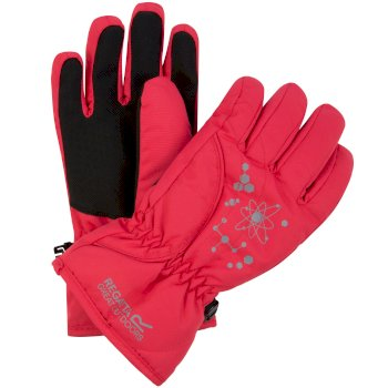 Regatta Kids Arlie II Reflective Waterproof Gloves - Bright Blush