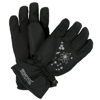 Regatta Kids Arlie II Reflective Waterproof Gloves - Black
