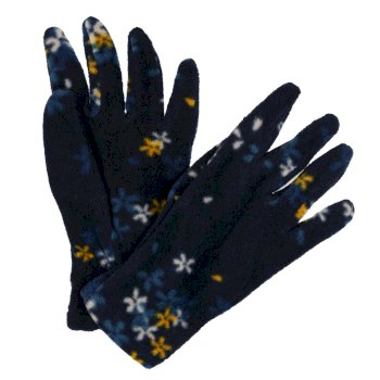 Regatta Kids' Fallon Printed Gloves - Navy Floral