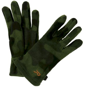Regatta Fallon Printed Camo Gloves Cypress Green Camo