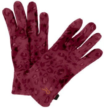 Regatta Kids' Fallon Printed Gloves - Rumba Red Animal