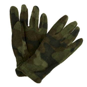 Regatta Kids' Fallon Printed Gloves - Khaki Camo