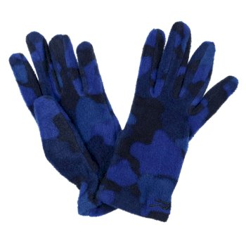 Regatta Kids' Fallon Printed Gloves - Royal Blue Camo