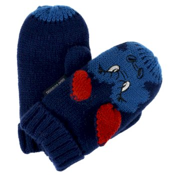 Kids' Animally III Mittens Prussian Blue Dragon