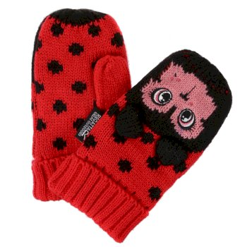Regatta Kids' Animally III Mittens - Lollipop Ladybird