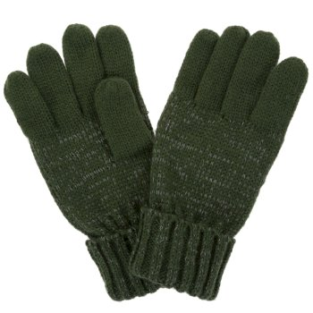 Regatta Kids' Luminosity Reflective Knitted Gloves - Dark Khaki