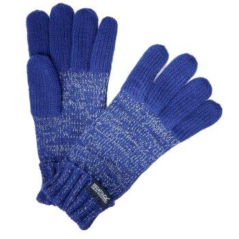 Luminosity reflektierende Strickhandschuhe für Kinder Blau