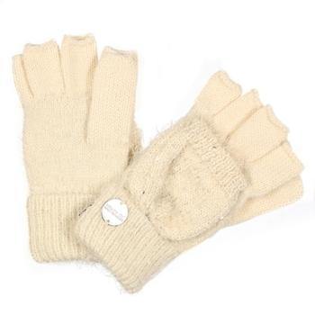 Heddie Lux Strickhandschuhe mit Pailletten für Kinder Sahne