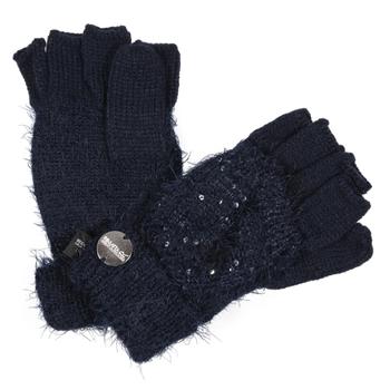 Heddie Lux Strickhandschuhe mit Pailletten für Kinder Blau