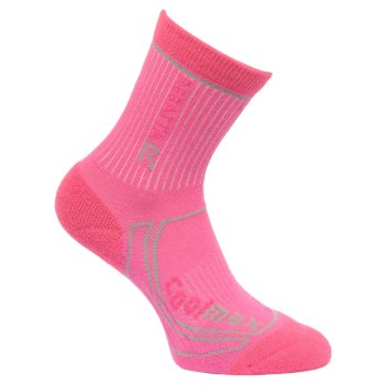 Regatta Kids 2 Season Coolmax Trek & Trail Socks - Raspberry Rose Jem