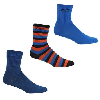 Outdoor-Socken, 3er-Pack für Kinder Blau