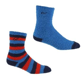 Kuschelige Socken, 2er-Pack für Kinder Blau