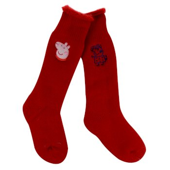Regatta Kids' 2 Pair Wellington Socks - Red Peppa