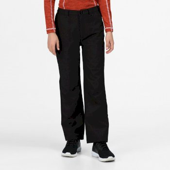 Regatta Kids' Dayhike II Breathable Waterproof Hiking Trousers Black