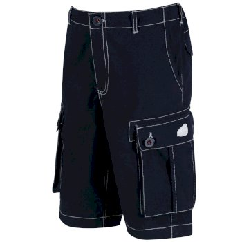 Regatta Kids Shorefire Cool Weave Cotton Canvas Shorts - Navy
