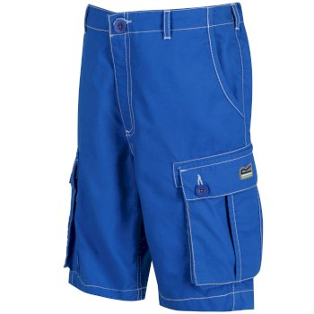 Regatta Kids Shorefire Cool Weave Cotton Canvas Shorts - Skydiver Blue