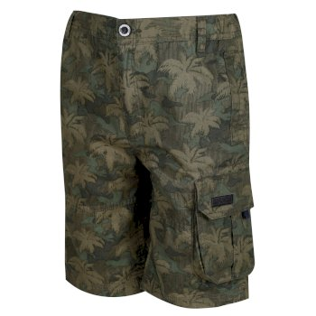 Regatta Kids' Shorewalk Cargo Shorts Grape Leaf Camo Print
