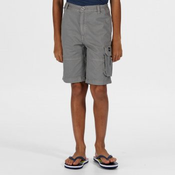 Regatta Kids' Shorewalk Cargo Shorts - Rock Grey