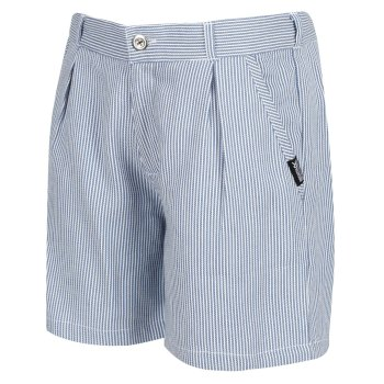 Regatta Kids' Damita Casual Shorts - Blue Ticking Stripe